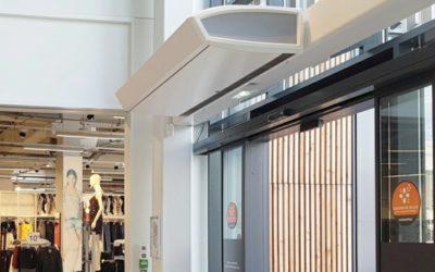 Luchtgordijn voor winkels en retail